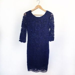 Lulus 3/4 Sleeve Lace Dress